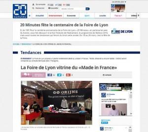 20 Minutes_Foire de Lyon_20160311