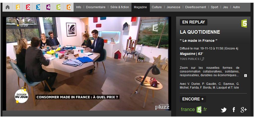 France 5_La Quotidienne_20131119